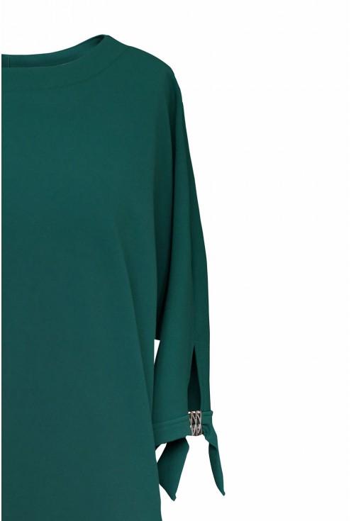 Butelkowa sukienka - detal