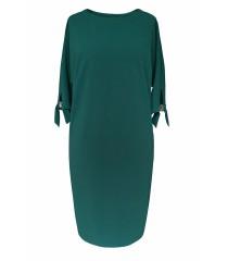 Butelkowa sukienka z biżuteryjną klamerką - CINDY