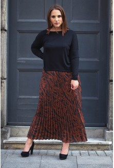 Spódnica plisowana wzór w panterkę xxl