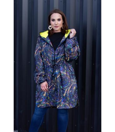Kolorowa przejściowa kurtka z kapturem - RACHEL