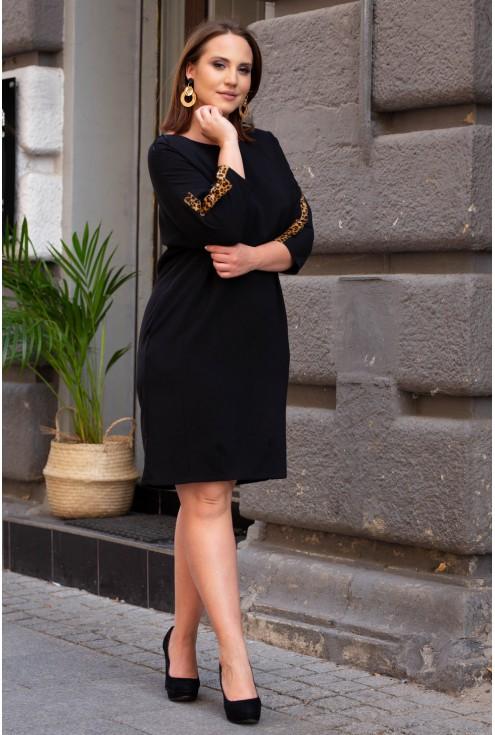 sukienka plus size z lampasem