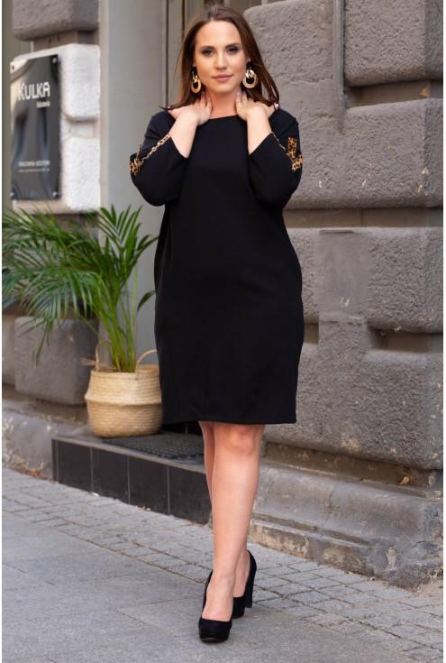Czarna sukienka xxl lampas