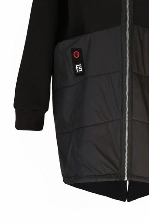 Czarna bluza z kapturem duże rozmiary
