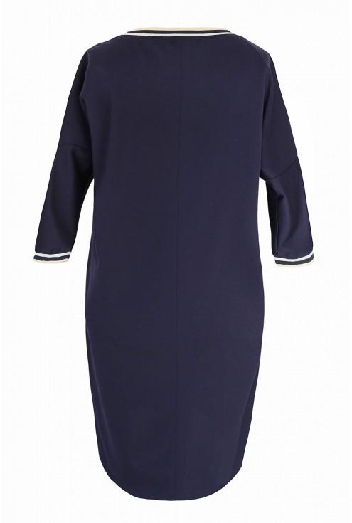 Granatowa sukienka duże rozmiary