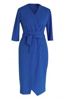Chabrowa sukienka z wiązaniem duże rozmiary