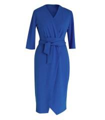 Chabrowa sukienka z wiązaniem - VENEZIA
