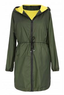 Khaki cienka kurtka z kapturem xxl