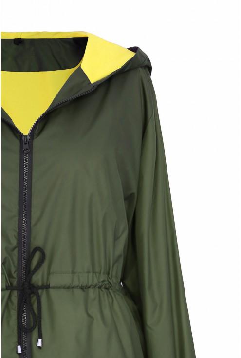 Khaki kurtka z kapturem plus size