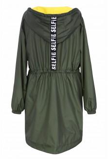 Khaki cienka kurtka z kapturem tył xxl