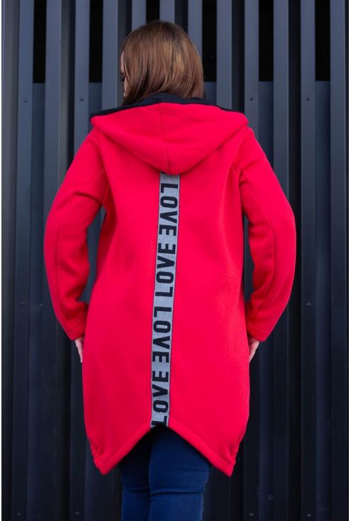 Czerwona bluza Love - tył