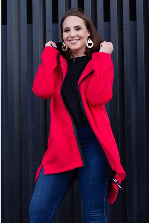 Czerwona zapinana bluza Love