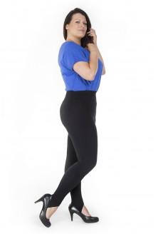 Czarne legginsy z zapiętkami plus size