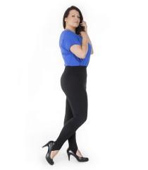 Czarne legginsy z zapiętkami - CLEO BK