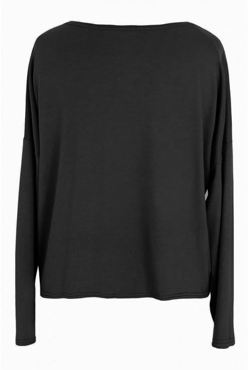 Czarna krótka bluzka spódnic z wysokim stanem xxl