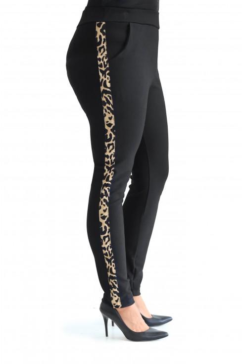 Wygodne, spodnie z lampasem w modną panterkę w sklepie plus size XL-ka