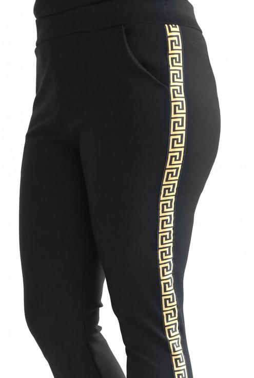 Dresowe czarne spodnie dla kobiet w dużych rozmiarach w sklepie XL-ka