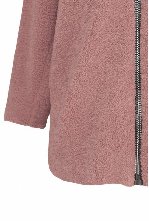 ciepła kurtka z kapturem plus size