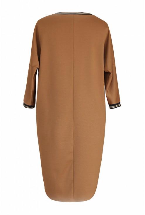 Camelowa sukienka oversize xxl