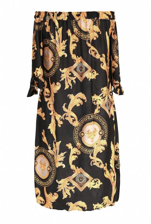 Tył czarnej sukienki w sklepie z odzieżą plus size XL-ka