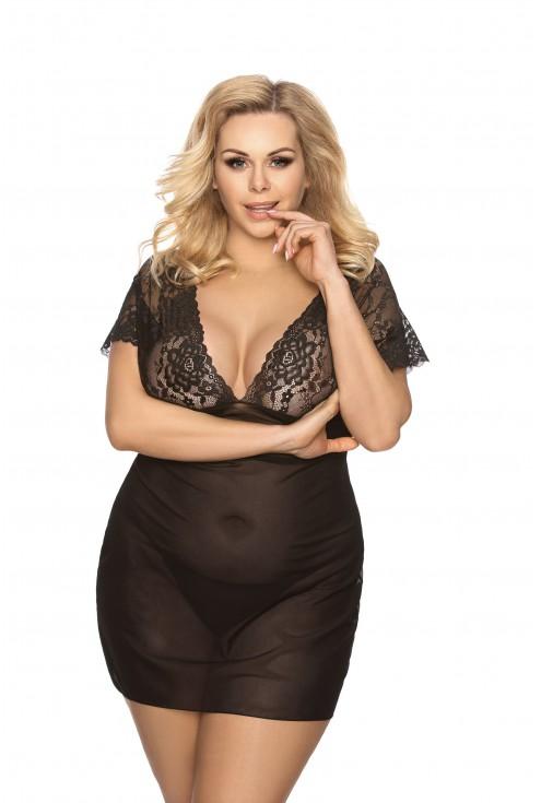 czarna koszulka nocna - Lorraine