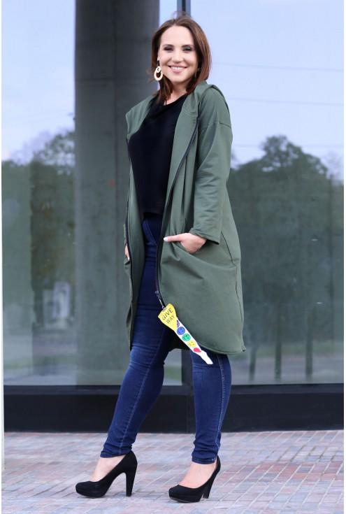 Długa bluza LARA - khaki