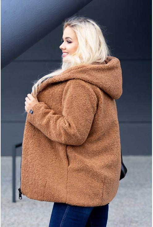Płaszcz z kapturem w rozmiarach plus size dla kobiet