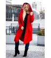 Czerwony płaszczyk jesienny dresowy plus size ARJA
