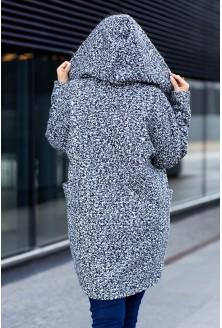 Melanż płaszcz na chłodniejsze dni