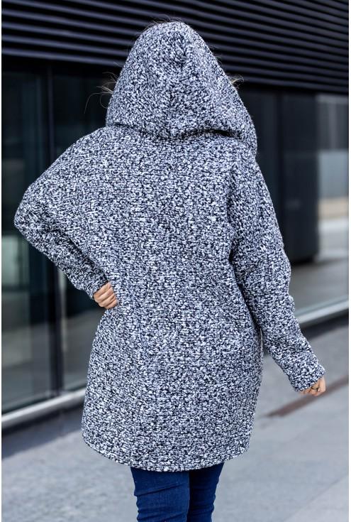 Płaszcz z kapturem dla kobiet plus size