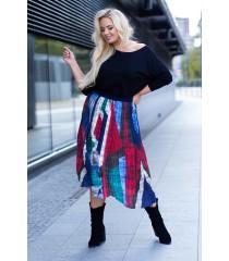 Spódnica plisowana z kolorowym wzorem - KAREN
