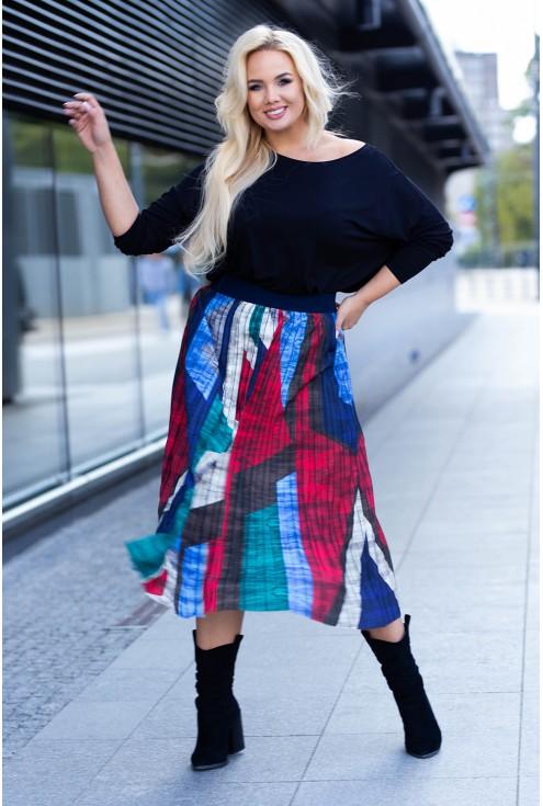 Spódnica plisowana z kolorowym wzorem w sklepie XL-ka