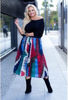 Spódnica plisowana plus size dla kobiet