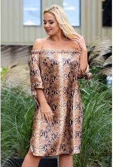 Sukienka w dużych rozmiarach w sklepie XL-ka skóra węża