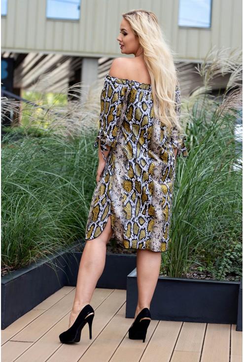 Sukienka hiszpanka dla kobiet w dużych rozmiarze