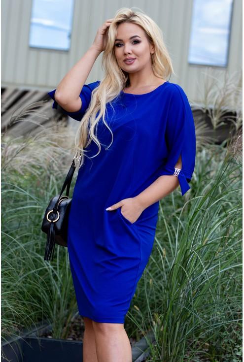 Chabrowa sukienka w dużych rozmiarach plus size dla kobiet