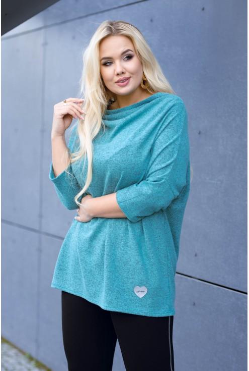 Miętowy sweterek w dużych rozmiarach plus size w sklepie XL-ka
