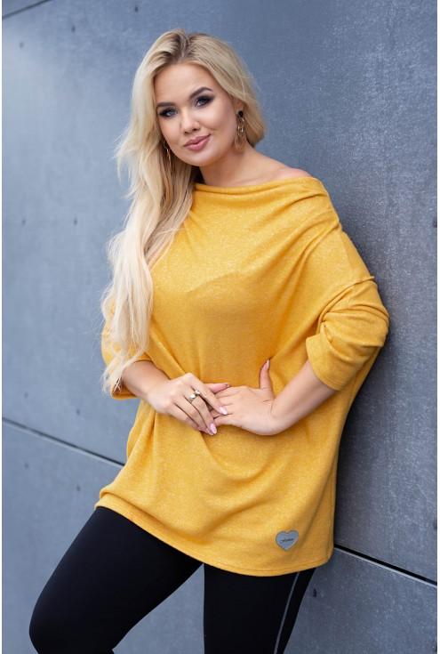 Miodowy sweterek xxl
