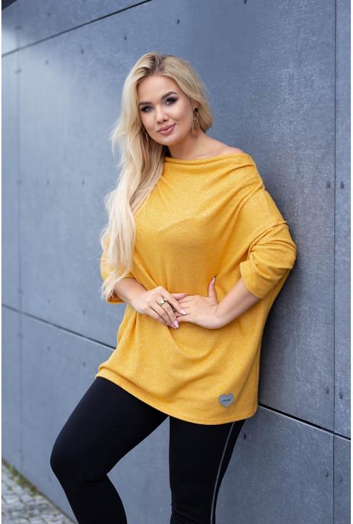 Sweterek w dużych rozmiarach w kolorze miodowym w sklepie XL-ka