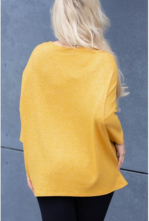 Wygodny, luźny, sweterek w dużym rozmiarze xxl