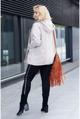 Sweterek z kapturem w beżowym kolorze xxl