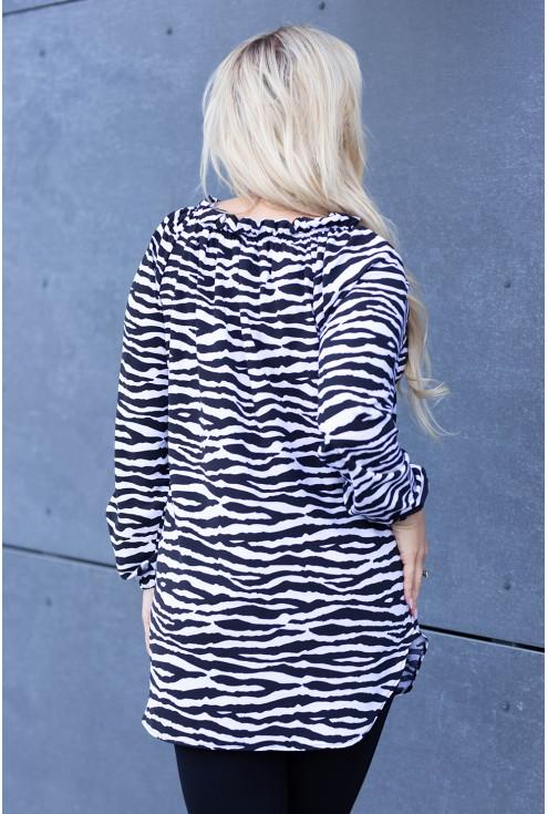 bluzka z wzorem w zebrę - Violet