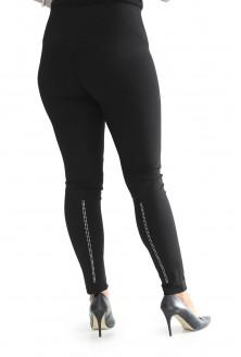 czarne legginsy z dżetami duże rozmiary