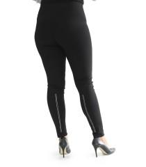 Czarne legginsy ze srebrnymi cekinami - LIVIA
