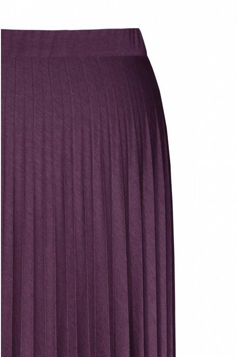 Śliwkowo-bordowa spódnica plisowana