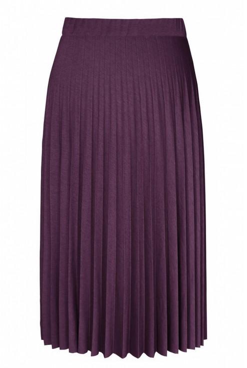 Śliwkowo-bordowa dzianinowa spódnica plisowana xxl