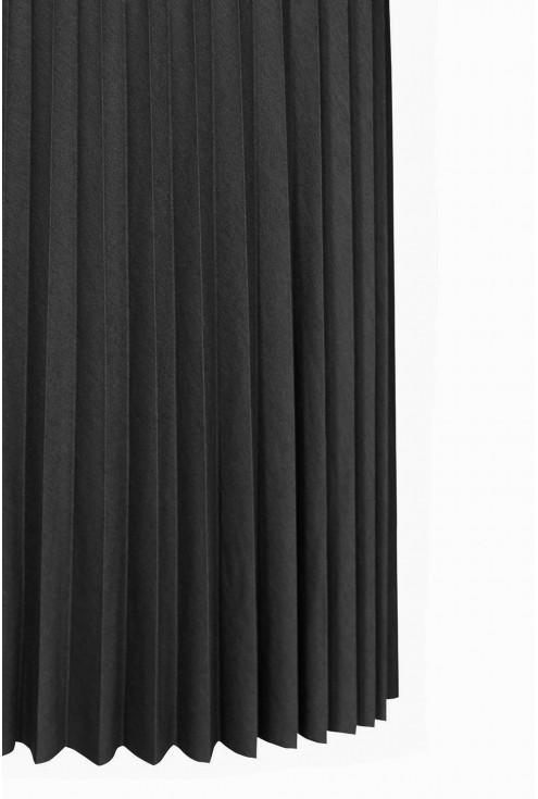 Czarna dzianinowa spódnica plisowana xxl