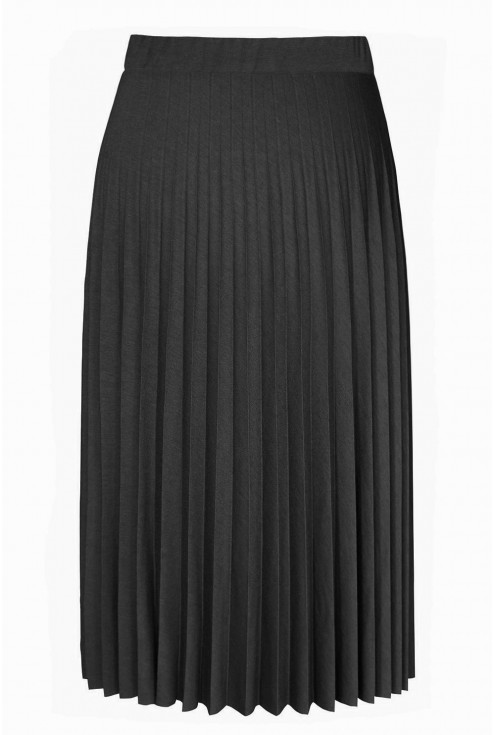 Czarna dzianinowa spódnica plisowana