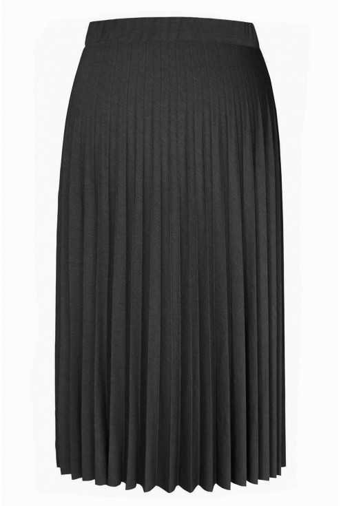 Czarna spódnica plisowana plus size
