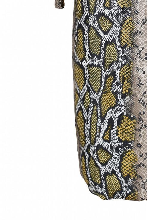 Sukienka z wzorem w skórę węża duże rozmiary