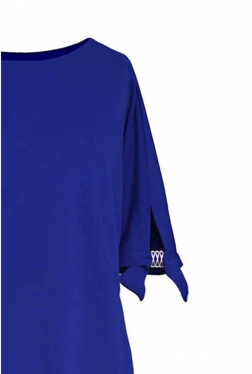 Chabrowa sukienka duże rozmiary
